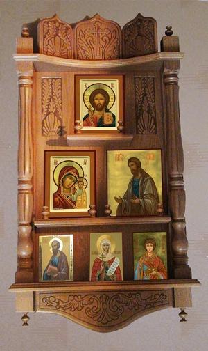 Полки для икон, домашние иконостасы на заказ ————————————